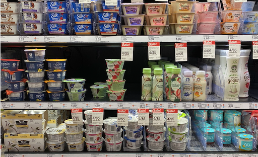 Target vegan yogurt section!